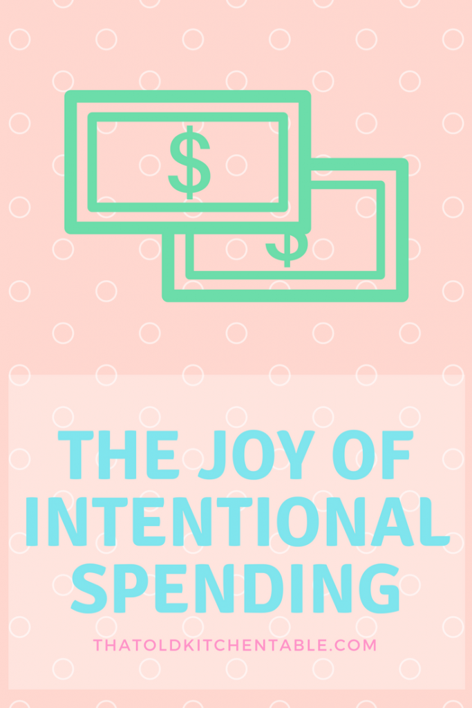 joy of intentional spending