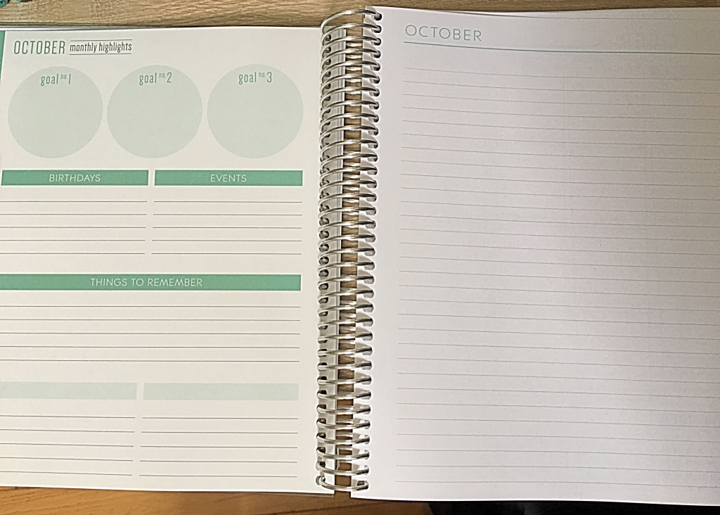 plum paper planner goals section