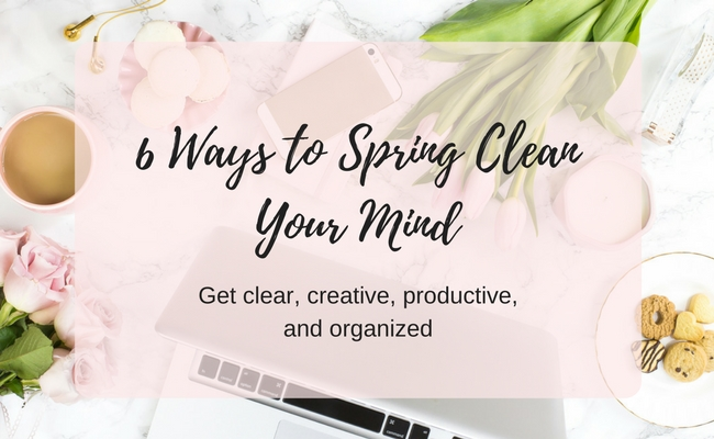 declutter your mind for creativity and clarity
