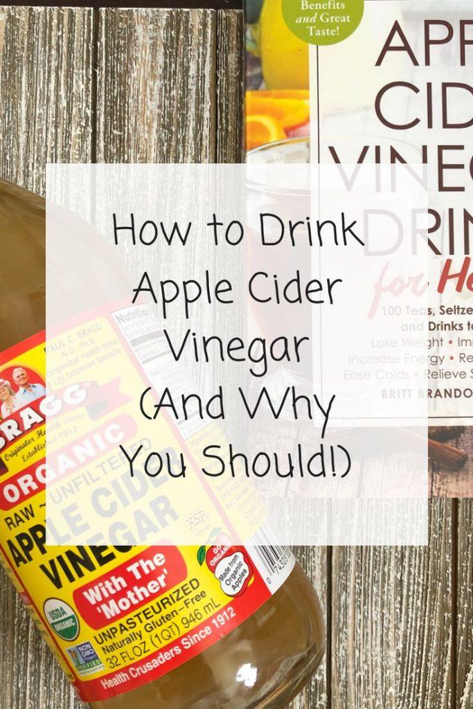 how to drink apple cider vinegar