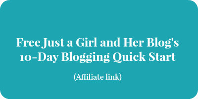 just a girl and her blog blogging course