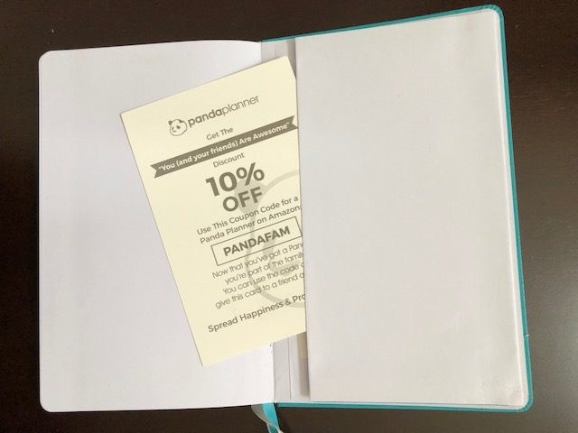 panda planner coupon and back pocket