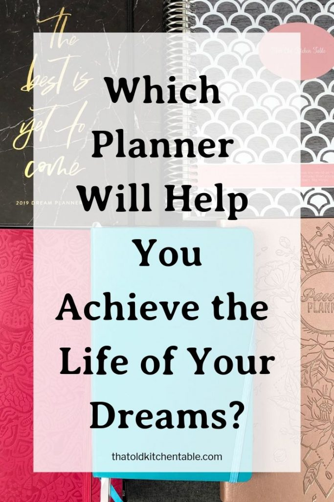 planner review for achieving your dream life